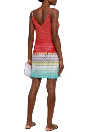 MISSONI MARE Crochet-knit mini dress