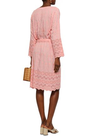 MELISSA ODABASH Cecilia belted broderie anglaise voile dress