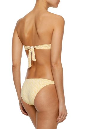 MELISSA ODABASH Aruba perforated low-rise bikini briefs