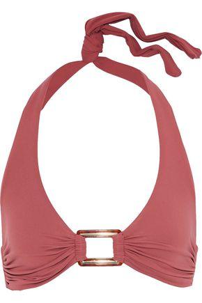 MELISSA ODABASH Paris embellished halterneck bikini top
