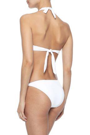 MELISSA ODABASH Trinidad embellished halterneck bikini top