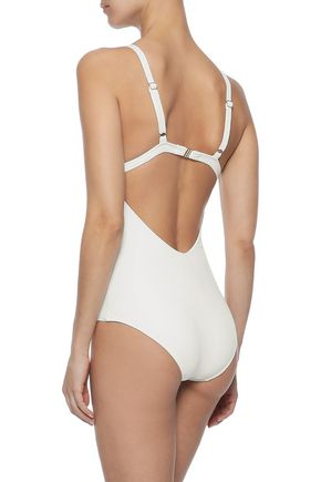 MELISSA ODABASH Amazon cutout printed swimsuit
