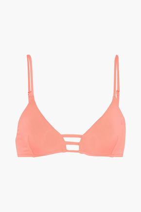 MELISSA ODABASH Perth lattice-trimmed triangle bikini top