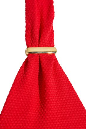 MELISSA ODABASH Africa twist-front printed halterneck bikini top