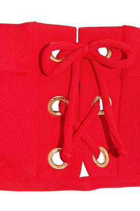 MELISSA ODABASH Lace-up bandeau bikini top
