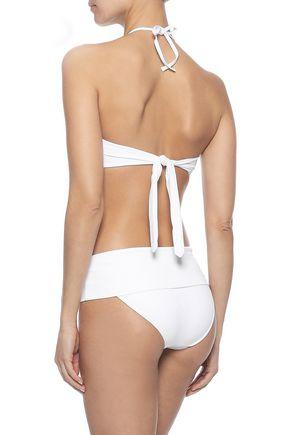 MELISSA ODABASH Costa Rica lattice-trimmed halterneck bikini top