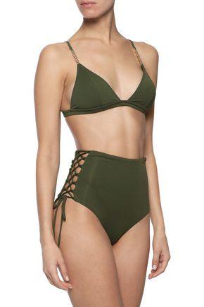 MELISSA ODABASH Madrid lace-up high-rise bikini briefs