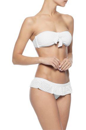 Melissa Odabash Woman India Ruffled Crocheted Low-Rise Bikini Briefs White