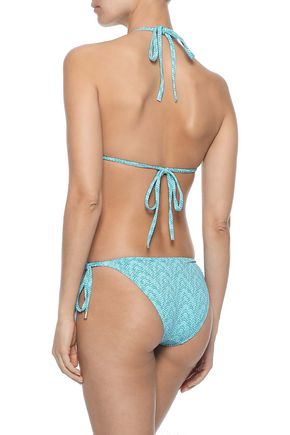 MELISSA ODABASH Cancun printed low-rise bikini briefs