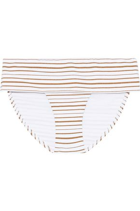 MELISSA ODABASH Brussels metallic striped mid-rise bikini briefs