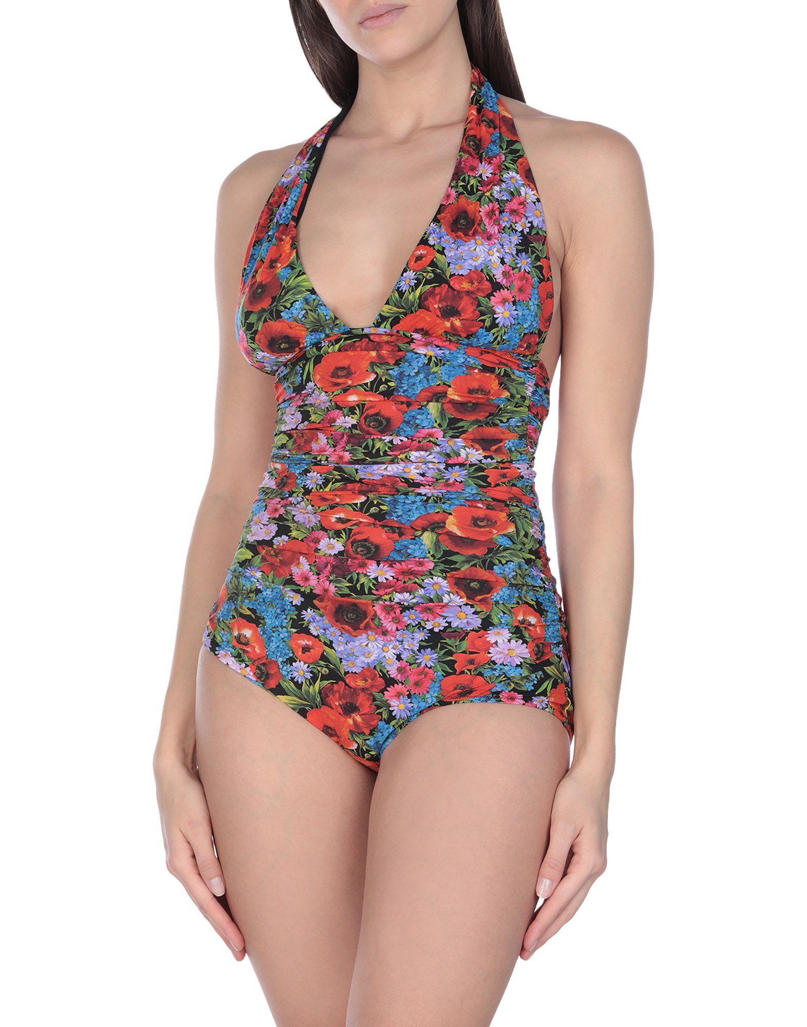 DOLCE & GABBANA BEACHWEAR Слитный купальник blugirl blumarine beachwear слитный купальник