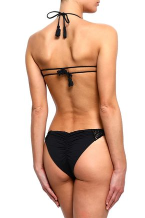 EBERJEY Dune crochet-trimmed low-rise bikini briefs