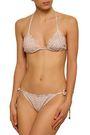 EBERJEY Printed triangle bikini top