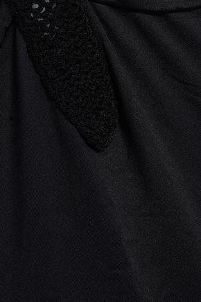 EBERJEY Sacred Stitch Ivy crochet-trimmed halterneck swimsuit