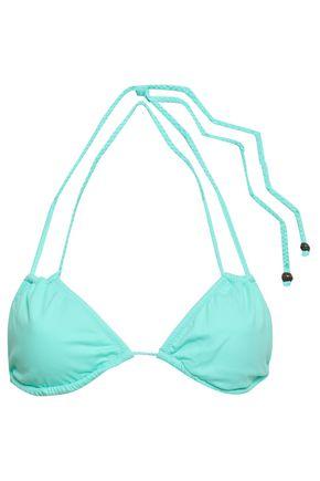 EBERJEY Suki braid-trimmed triangle bikini top