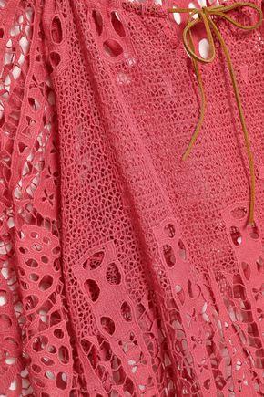 EBERJEY Crocheted cotton coverup