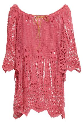 EBERJEY Crocheted cotton coverup