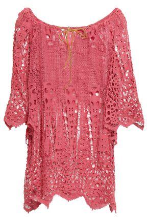 EBERJEY Spearhead Gianna crocheted cotton coverup