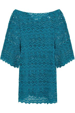 EBERJEY Desert Star Raven crocheted cotton coverup