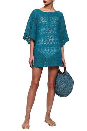 EBERJEY Desert Star Raven crocheted cotton coverup