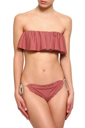 LOVE STORIES Ruffled low-rise bikini briefs
