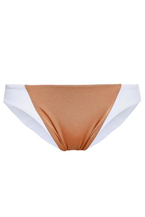 TORI PRAVER SWIMWEAR Maelyn two-tone low-rise bikini briefs