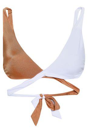 TORI PRAVER SWIMWEAR Joy two-tone wrap bikini top
