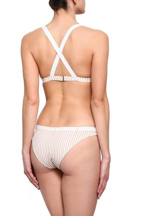 LOVE STORIES Pippa belted striped low-rise bikini briefs