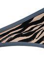 LOVE STORIES Shelby embroidered zebra-print low-rise bikini briefs