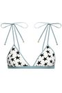 LOVE STORIES Printed triangle bikini top