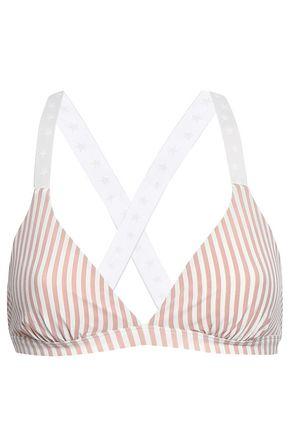 LOVE STORIES Uma striped triangle bikini top