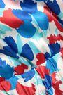 MORGAN LANE Floral-print silk-satin jumpsuit