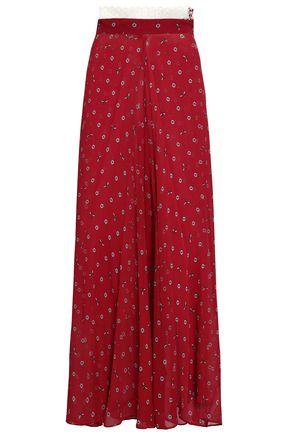 MORGAN LANE Elisa printed silk-georgette wide-leg pants