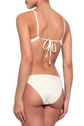 MORGAN LANE Embellished triangle bikini top