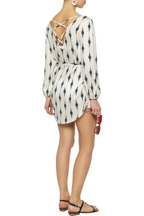 EBERJEY Voyeur Mika printed washed-voile mini dress