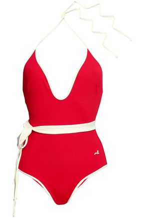MORGAN LANE Tate halterneck swimsuit