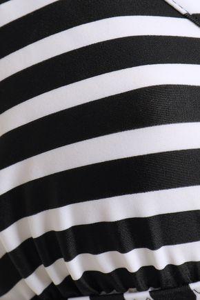 NORMA KAMALI Striped triangle bikini top