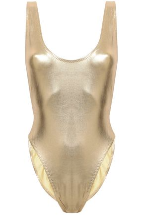NORMA KAMALI Metallic swimsuit