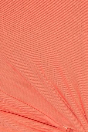 IRIS & INK Jasmine twist-front halterneck bikini