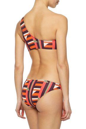 IRIS & INK Tulip one-shoulder printed bikini