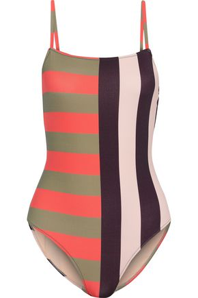 IRIS & INK Eden striped swimsuit