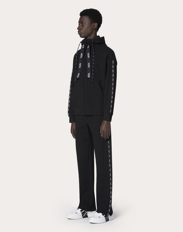 JERSEY TROUSERS WITH VLTN PIPING
