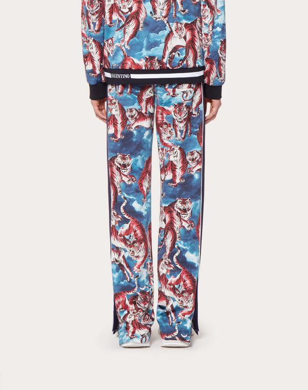 JERSEY TROUSERS WITH GO TIGER PRINT