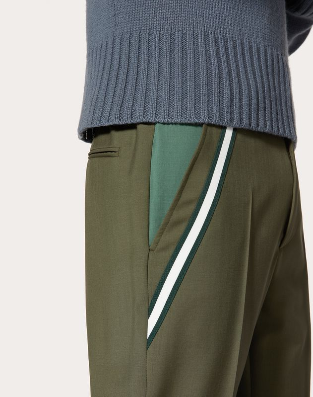 WOOL PANTS WITH CONTRASTING POCKET