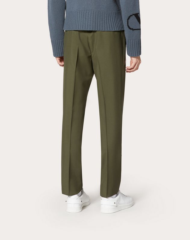 WOOL TROUSERS WITH CONTRASTING POCKET