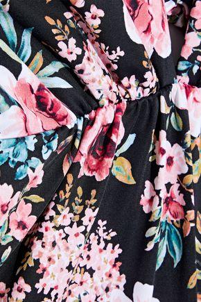 TORI PRAVER SWIMWEAR Andie lace-up floral-print swimsuit