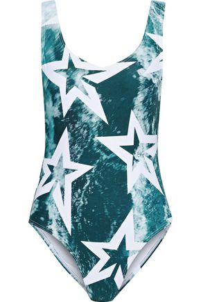 PERFECT MOMENT Printed tie-dyed swimsuit