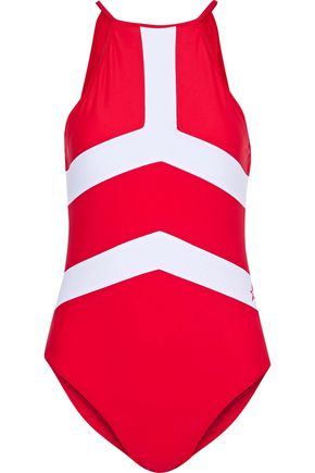 PERFECT MOMENT Nordic open-back swimsuit