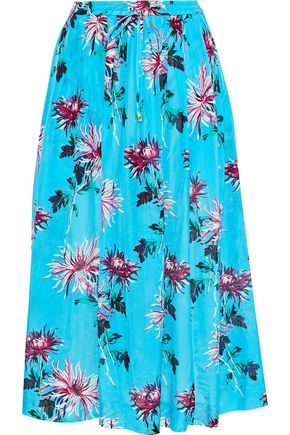 DVF WEST DIANE VON FURSTENBERG Floral-print cotton and silk-blend midi skirt