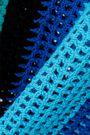 DVF WEST DIANE VON FURSTENBERG Striped crocheted cotton tank